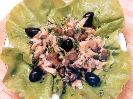 Salada de Bacalhau com Alcaparra