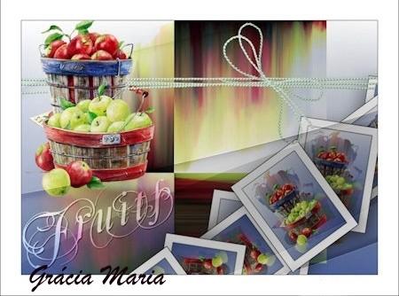 Sopa doce de frutas e ervas