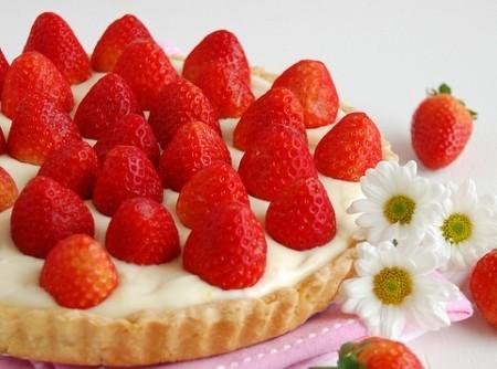 Torta de Morangos com Creme de Limão Siciliano