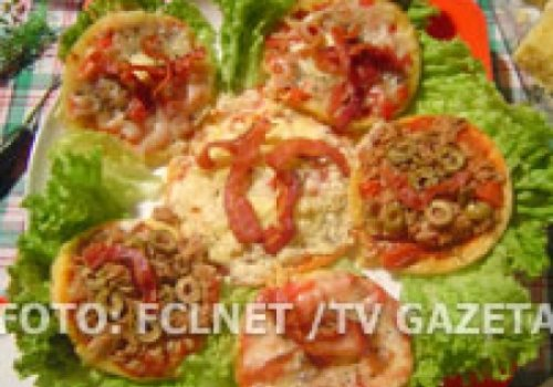 Mini-pizza de arroz
