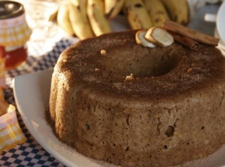 Bolo de Banana para Microondas
