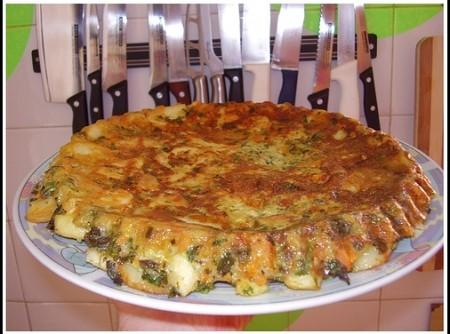 Tortilha com legumes