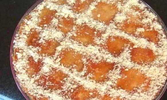 Torta de castanha com cupuaçu