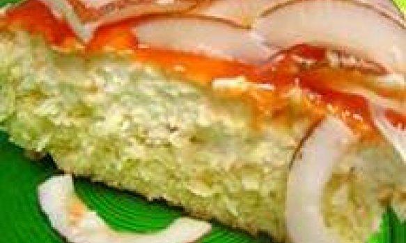 Torta Queijadinha com Mousse de Coco