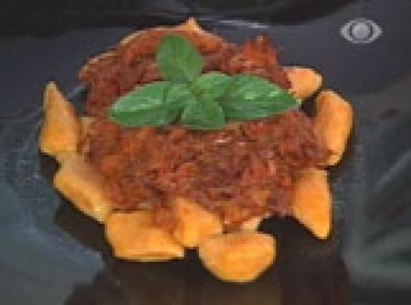 Nhoque de Abóbora com Molho de Carne Seca   Ieda Porto de Oliveira e Silva