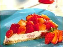 Torta light de morango e ricota