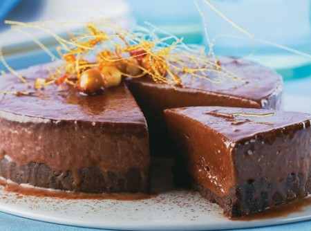 Torta Macia de Creme de Avelã