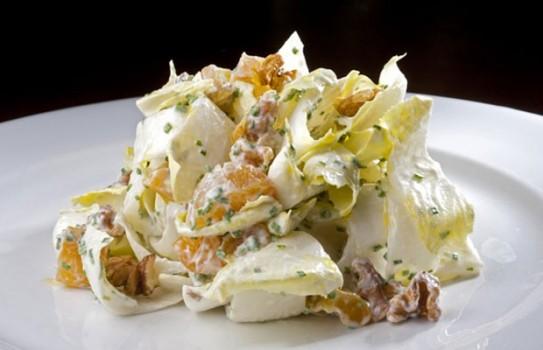 Salada de Endívia ao Molho de Limão, Cream Cheese e Damasco   Sandra Nara Pereira Alves