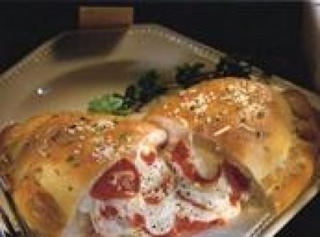 Calzone de queijo e presunto | Massaki Mori