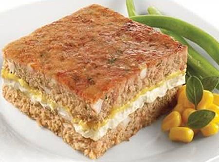 Bolo de Carne Moída com Cream Cheese