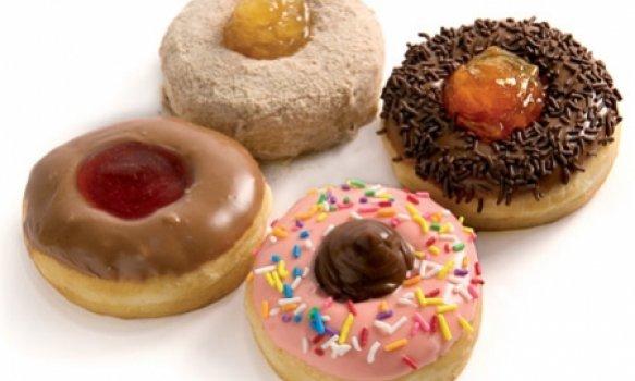 Donuts de baunilha e geléia
