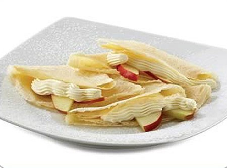 Crepe de Maçã e Cream Cheese