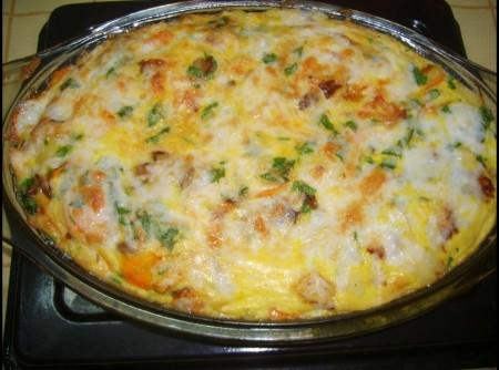 Tortilha de forno com frango e legumes | ana carolina soares da silva