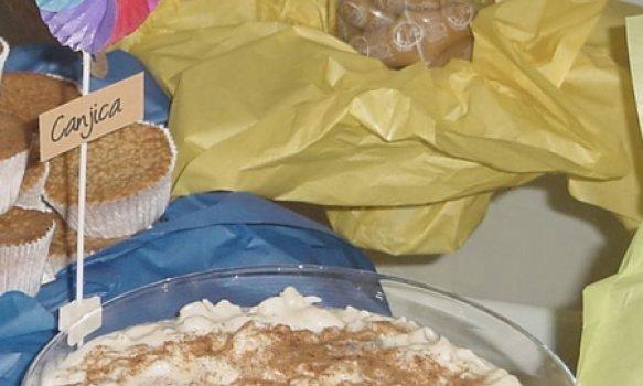 Canjica cremosa com coco