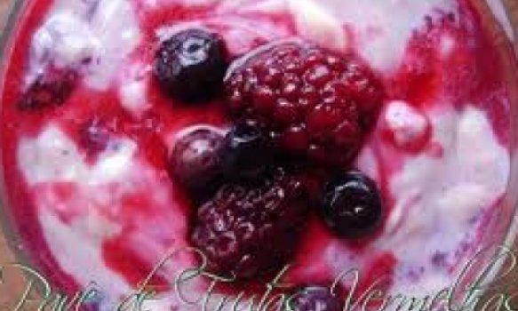 Creme de Iogurte com Frutas Vermelhas