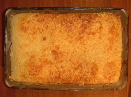 Torta com sobra de arroz