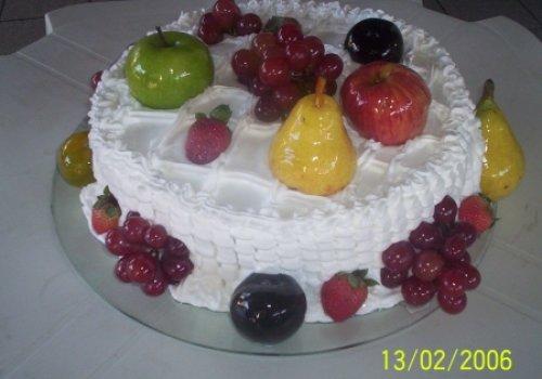 Torta de frutas laqueadas