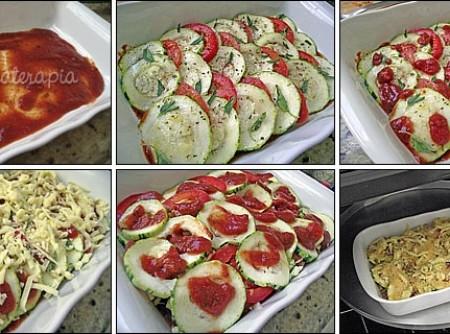 Abobrinha ao Forno com Molho de Tomate