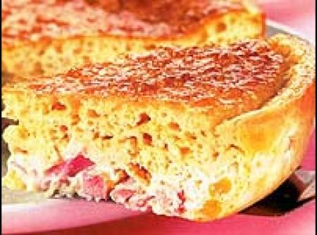 Torta de presunto com mussarela (Liquidificador)