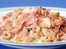 Farofa de Arroz com Bacon e Presunto