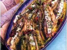 Sardinha marinada com ervas frescas