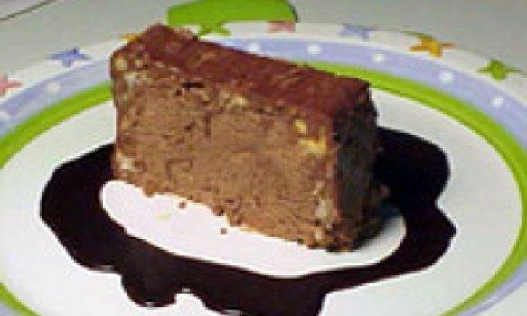 Terrine gelada de chocolate