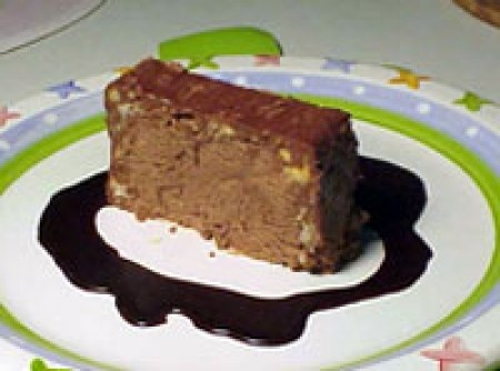 Terrine gelada de chocolate