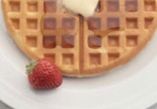 Massa de waffle