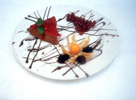 Cheesecake ao Molho de Framboesas