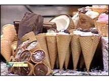 Cones Recheados com Maria Mole e Chocolate