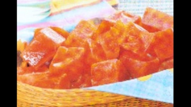 Doce de abóbora cristalizado