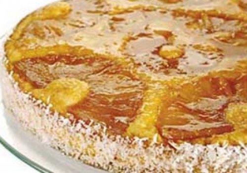Torta Invertida de Abacaxi Com Tapioca