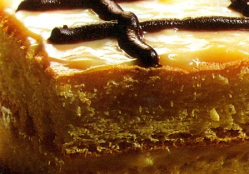 Pao de ló com creme de café