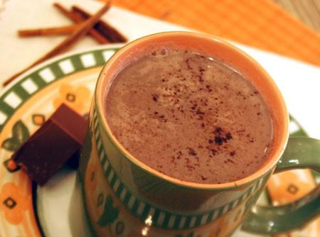 Chocolate Quente com Laranja