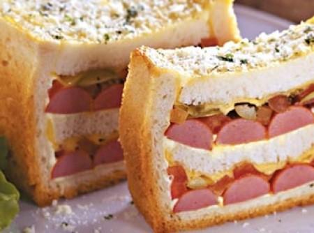 Sanduíche de salsicha no forno | MIRIAN ELMOR