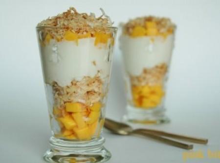 Parfait de mango e coco | Raul Barnech Rodrigues