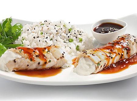 Filé de peixe oriental