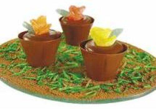 Vasinhos de chocolate