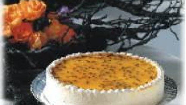 Torta Mousse de Maracujá e Chocolate Branco