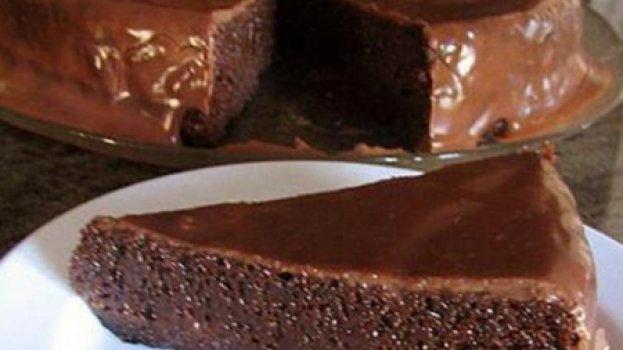 Tentação de Chocolate - bolo de chocolate sem farinha