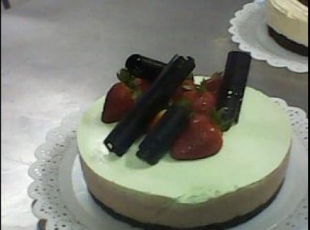 Torta trufada com menta