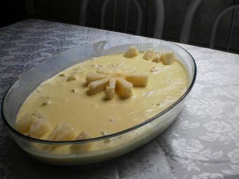 Mousse de abacaxi com poucas calorias