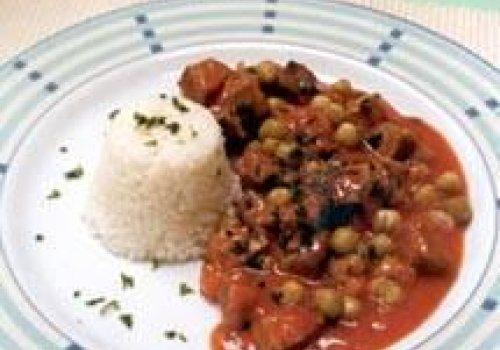 Carne Assada com Ervilhas