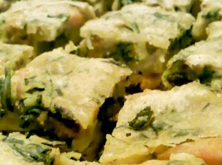 Torta Fácil de Espinafre com Cenoura
