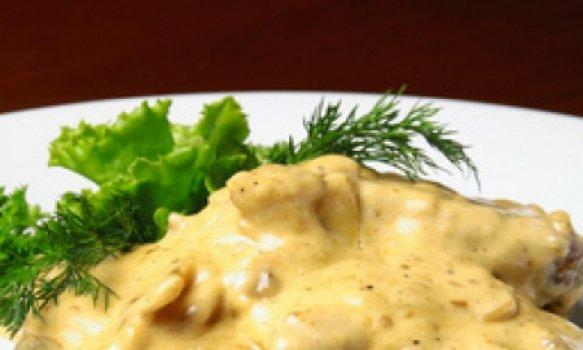 Filet Mignon em tiras com Queijo Gorgonzola no Microondas