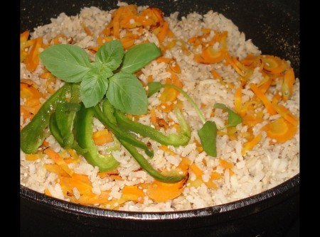 Arroz Integral à Vegetariana