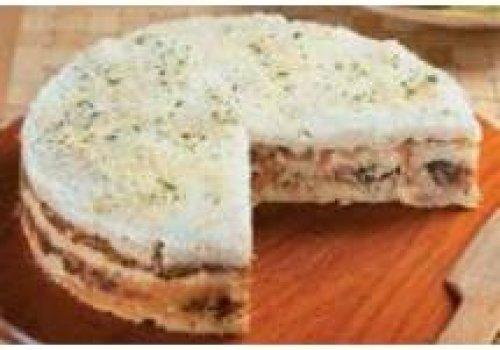 Torta de pão e atum