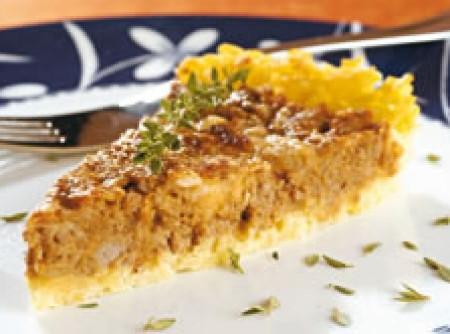 Torta de carne moída e arroz