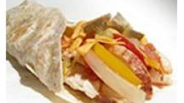 Fajita de frango com molho mexicano