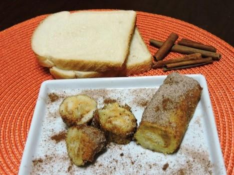 Rolinhos de Pão com Doce de Leite e Canela